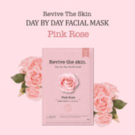 pink rose face mask sheet
