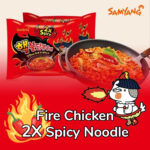 2x spicy fire chicken spicy noodles
