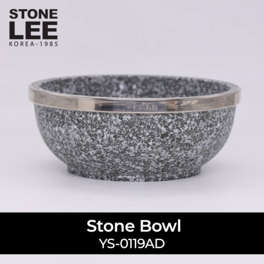 Luxury Stone Bowl With Stainless Steel Brim