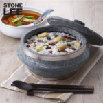 stone pot with lid