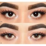 color contact lens brown