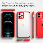 iphone hybrid case red